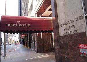 Social club - The Houston Club is a private social club.