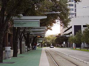 Museum District (METRORail station) - northbound platform