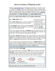 How to evaluate a Wikipedia article.pdf