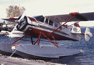 Howard DGA-15 - DGA-15P modified with floats and added finlets for improved control. Renton, Seattle, October 1973