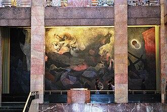 Rufino Tamayo - Mexico de Hoy by Rufino Tamayo on the first floor of the Palacio de Bellas Artes