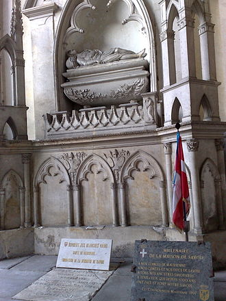 Humbert I, Count of Savoy - The cenotaph of Humbert I of Savoy in  Saint-Jean-de-Maurienne Cathedral