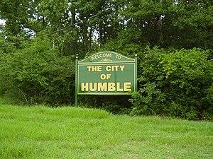 Sign indicating Humble