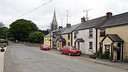 Houses and church steeple in Kilanerin