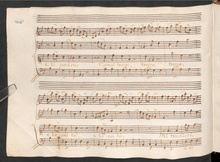 Domenico Scarlatti, Ausschnitt aus der Kantate Tinte a note di sangue (Quelle: Wikimedia)