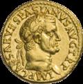 INC-1814-a Ауреус Веспасиан ок. 69-70 гг. (аверс).png
