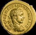 INC-1854-a Ауреус Элагабал ок. 218-219 гг. (аверс).png
