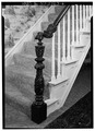 INTERIOR, FIRST FLOOR, DETAIL OF STAIR NEWEL - Franklin Whitney House, 63 Front Street, Binghamton, Broome County, NY HABS NY,4-BING,22-6.tif