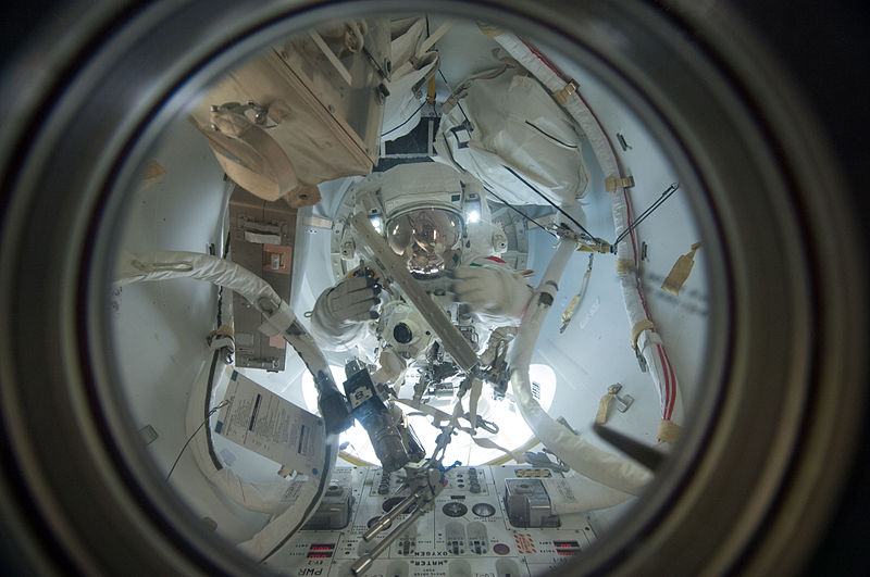 File:ISS-36 EVA-2 e Luca Parmitano leaves the Quest airlock.jpg