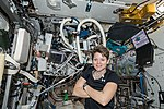 ISS-57 Anne McClain during a workout session inside the Destiny lab.jpg