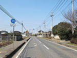 File:Ibaraki prefectural road route 125 (Nakazato-Bando line) in Sakasai,Bando city.JPG