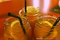Iced drinks with lemon slices, Singapore - 20140214.jpg