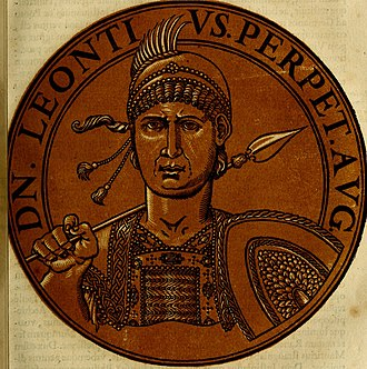 Leontios - A 17th century illustration of Leontius, based on coins bearing his image