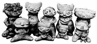 Venezuela - Cult image sculpted in ceramic, Los Roques Archipelago.