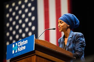 Ilhan Omar - Omar, then a candidate for Congress, speaks at a Hillary for Minnesota event at the University of Minnesota in October 2016