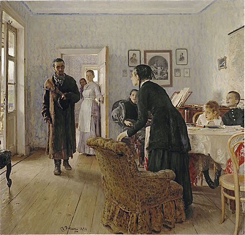 И.Е.Репин. «Не ждали». 1888