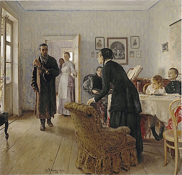 La peinture - Page 13 620px-Ilya_Repin_Unexpected_visitors