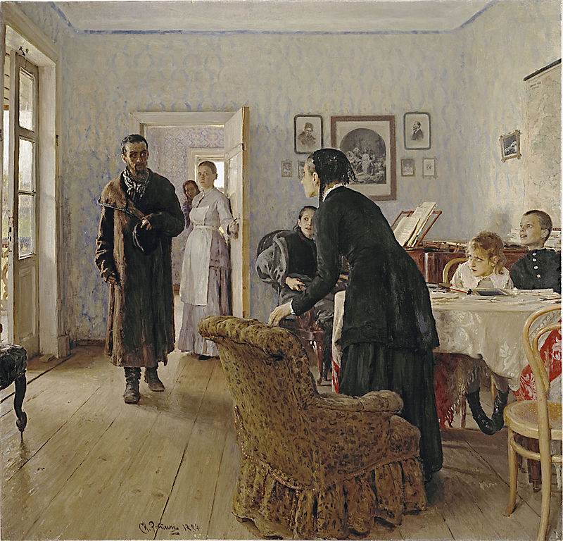 File:Ilya Repin Unexpected visitors.jpg - Wikimedia Commons