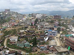 View of Zunheboto Town