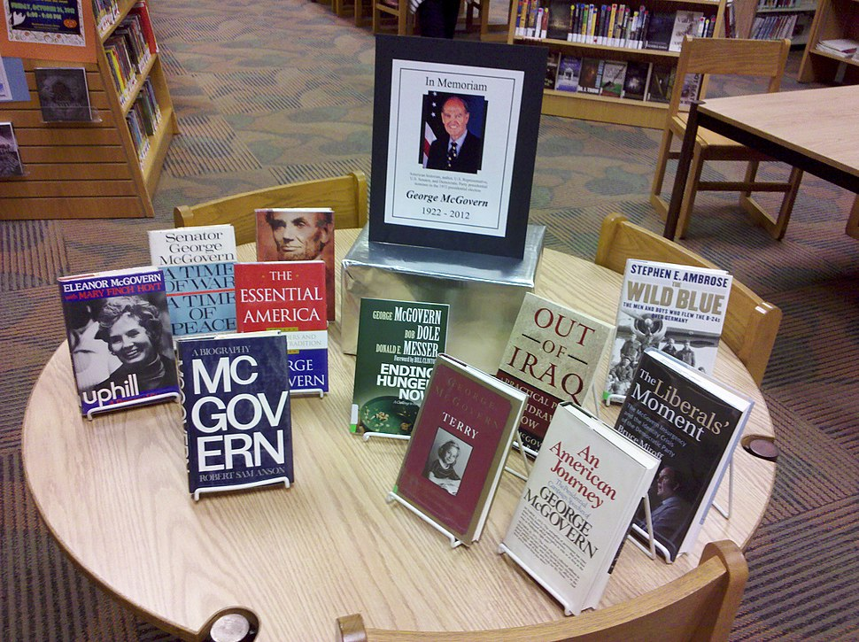 In Memoriam George McGovern library display