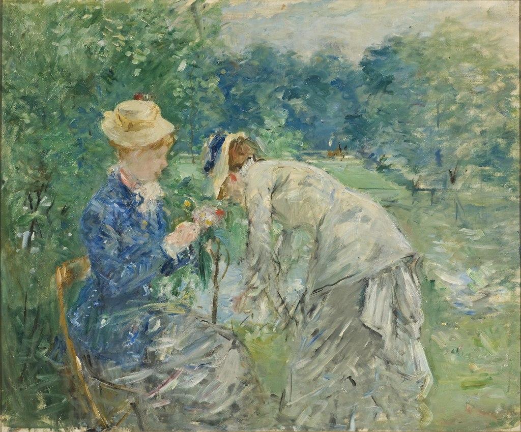In the Bois de Boulogne (Berthe Morisot) - Nationalmuseum - 22575.tif