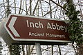 Inch Abbey direction sign, Downpatrick, February 2010.JPG