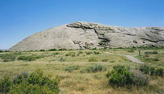 Emigrant Trail in Wyoming - Independence Rock