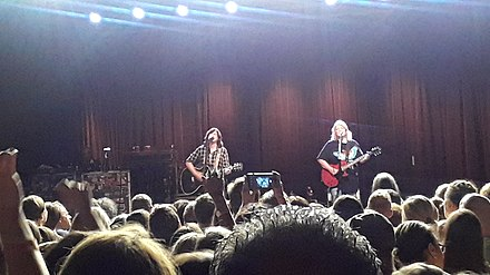 Performing at The Fillmore in Charlotte, North Carolina in 2018 Indigo Girls Fillmore.jpg