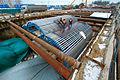 Installation of the plywood deck on the Mobil Formwork System. Обшивка фанерой опалубочного агрегата на станции Лесопарковая.jpg