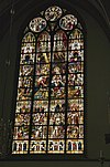 interieur zuidertransept, overzicht glas in loodraam- opdracht in de tempel - lith - 20334108 - rce