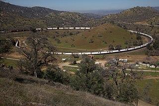 Tehachapi Loop railroad spiral loop in California
