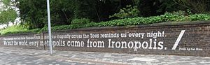 Middlesbrough - A wall celebrating the name Ironopolis