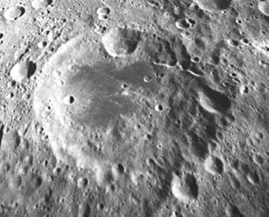 Isaev (crater) - Image: Isaev crater AS17 M 1567