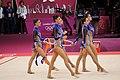Israel Rhythmic gymnastics at the 2012 Summer Olympics (7915114832).jpg