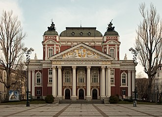 Ivan Vazov National Theatre - View of the theatre's facade