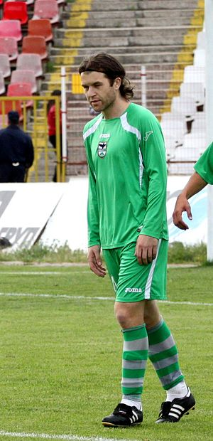 Ivan Tsvetkov - Tsvetkov playing for Pirin in 2011