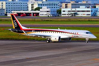 Mitsubishi Aircraft Corporation - The first Mitsubishi Regional Jet (MRJ) prototype at Nagoya Airfield in Komaki (2015)