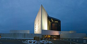 John F. Kennedy Presidential Library and Museum - Image: JFK library Stitch Crop