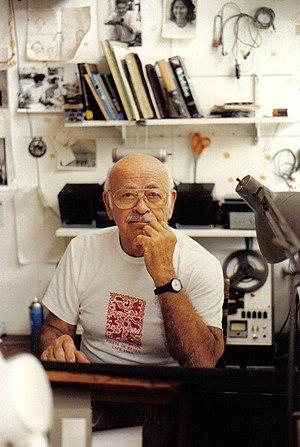 Jack Delano - Jack Delano in his studio. Trujillo Alto, Puerto Rico, 1990