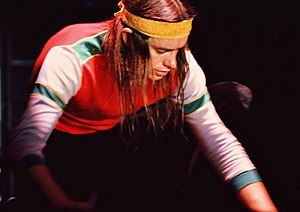 Jaco Pastorius - Pastorius demonstrating his harmonics, placing his bass guitar on the floor