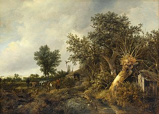 <i>Landscape with a Cottage and Trees</i> painting by Jacob van Ruisdael