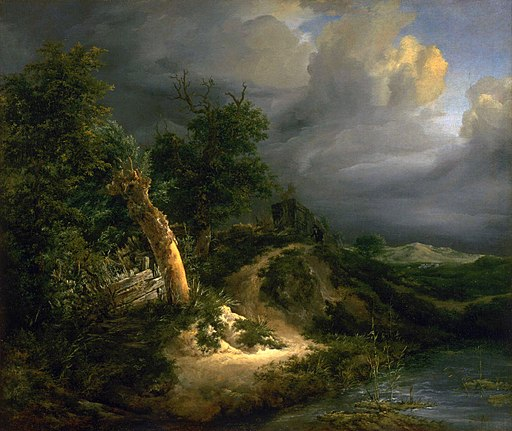 Jacob van Ruisdael - Storm on the Dunes