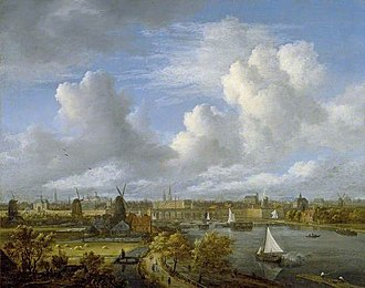 View on the Amstel from Amsteldijk - Image: Jacob van Ruisdael View on the Amstel Looking towards Amsterdam