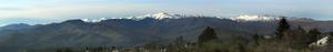 Jakupica - Jakupica mountain range, as seen from Dolno Sonje, Macedonia, with the highest peak Solunska Glava in the middle