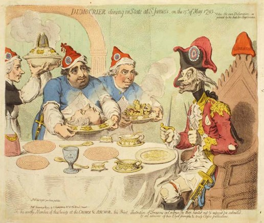 James Gillray 1793 Dumourier Dining in State at St James P.933.53.11