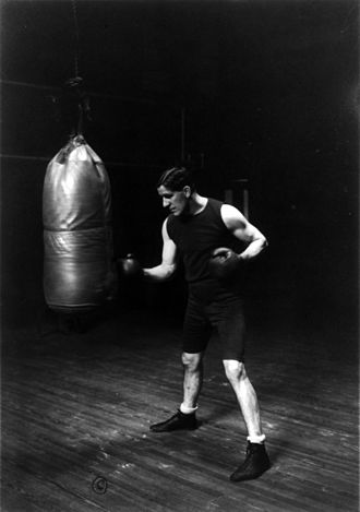James J. Corbett - Corbett training for his fight with Jeffries