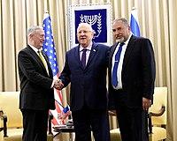 James Mattis, Reuven Rivlin & Avigdor Lieberman in Israel, April 2017 (33365819043).jpg