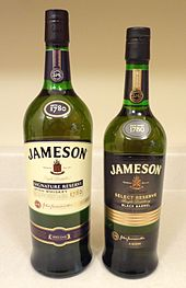 Types of jameson irish whiskey
