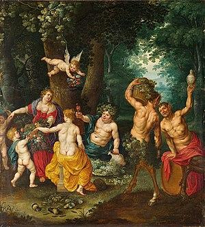 Jan van Balen - The Feast of Bacchus, with Jan Brueghel the Younger