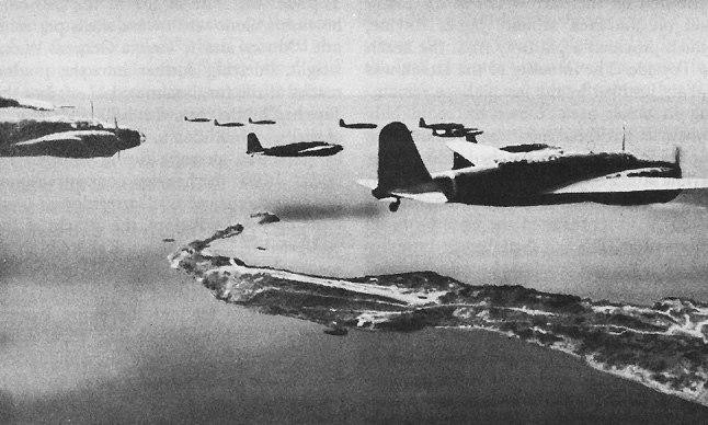 Japanese bombers over Corregidor